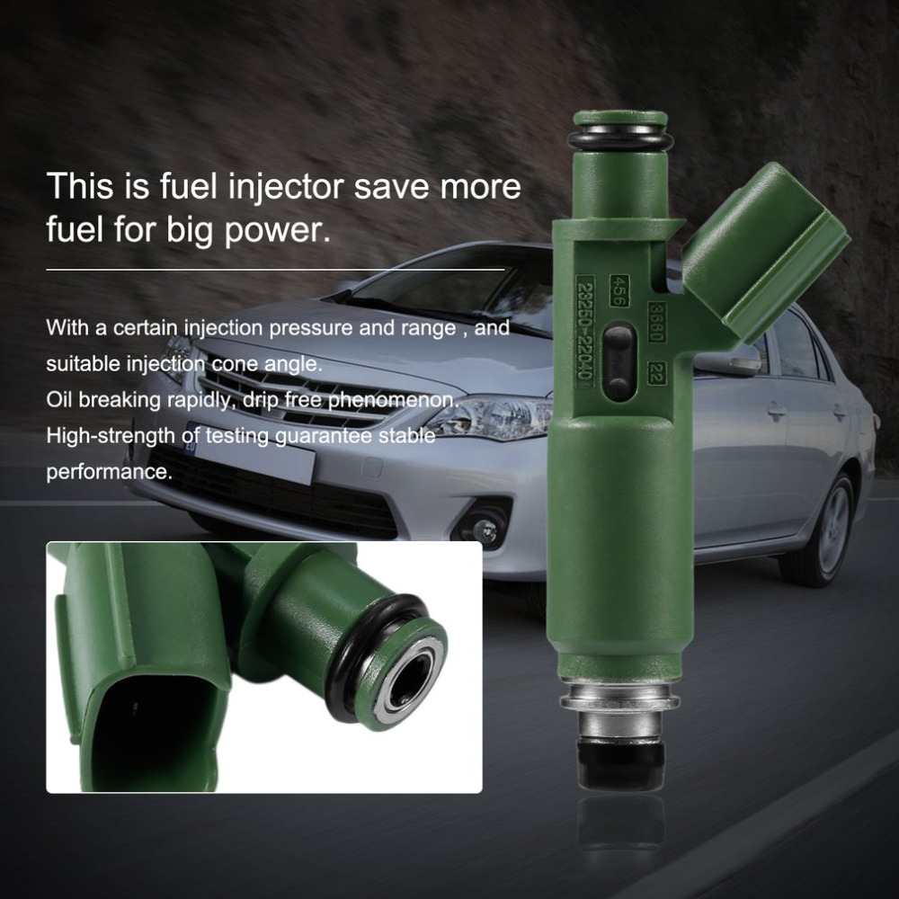 medium resolution of car styling green fuel injectors for toyota chevy prizm matrix corolla 1 8l oem 23250 22040 injection nozzle auto spare part in fuel inject
