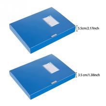 A4 легкая коробка для файлов защита и сохранение документов 3,5 см/5,5 см толстый чехол для файлов Портативный бизнес-органайзер коробка для хранения
