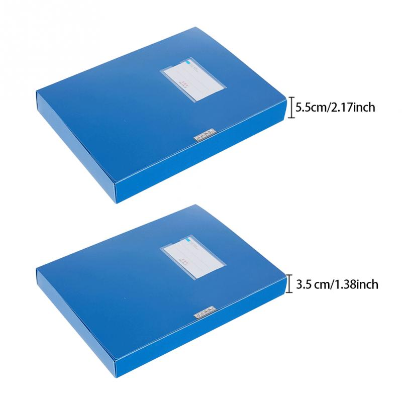 A4 Lightweight File Box Document Protection And Preservation 3.5cm/5.5cm Thick File Case Portable Business Organizer Storage Box