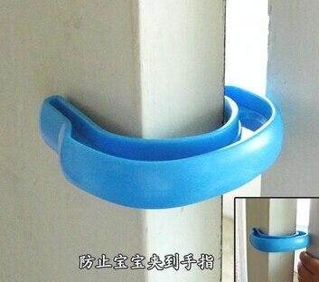 2pcs Plastic U Shape Door Stopper Clip Baby Safety Gate