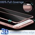 Aluminum alloy Tempered glass Coque case For Apple iphone 6 6S 7 plus Fundas Accessories Full screen coverage cover 5 5S SE 5C