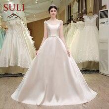 Robe de mariée avec nœud papillon, robe princesse avec perles, Corset, fabriqué en chine, bon marché, SL 53