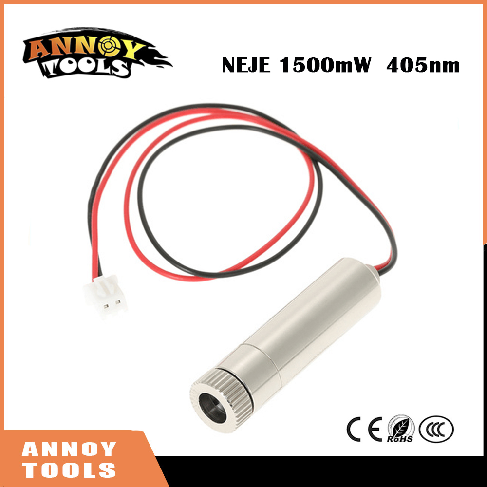 1500mW 405nm Laser Cutter Module CNC Laser Engraver Accessory For DIY Carving Engraving Machine With Blue
