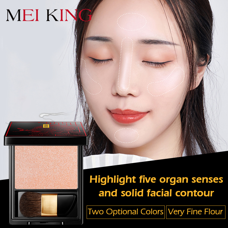 MEIKING couleur glaçure mettre en évidence poudre stéréoscopique correcteur Base maquillage imperméable contrôle de l'huile éclaircissant naturellement 2 couleurs