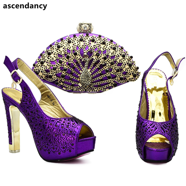 New Fashion Italian Shoes with Matching Bags Shoe and Bag Set for Party In Women Matching Shoes and Bag Set In Heels Party Pumps