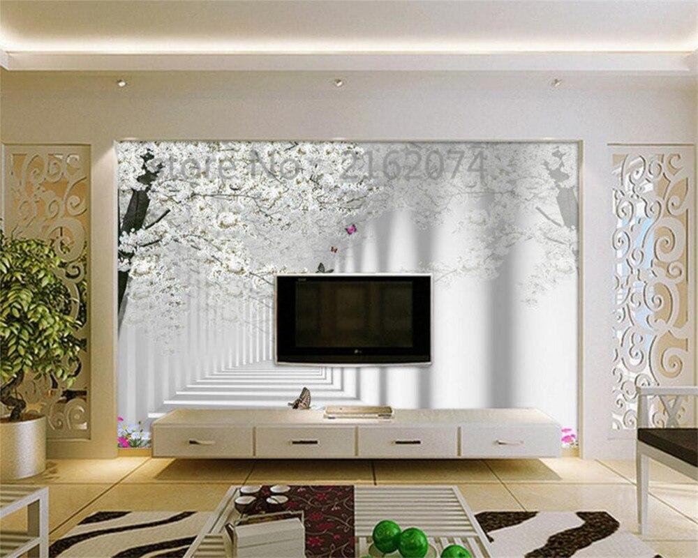 Beibehang Custom 3d photo wallpaper cherry fashion modern large ...