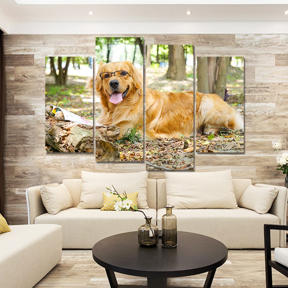 compare prices on dog framed art online shopping buy low price drop shipping modern large animal dog canvas painting art print poster wall picture no frame