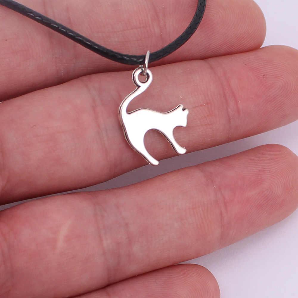 Hzew dễ thương đơn giản mèo mặt dây chuyền vòng cổ