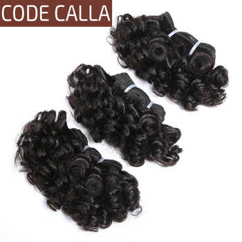 Code Calla Bouncy Curly Bundles Malaysian Remy Human Hair Weave Bundles Extensions Double Drawn Weft Natural Dark Brown Color - DISCOUNT ITEM  43% OFF All Category
