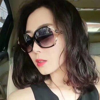 Oversized Sunglasses Female Polarized Driving Glasses Women's Fashion 2019 Luxury Brand Retro fashionable vintage Lady glasses 1