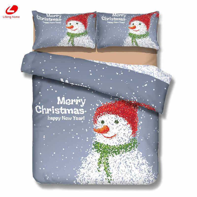 3d bedding Chrimstmas Bedding decor Stana bedding set Snowman duvet cover 3D bedclothes Xmas tree flat sheet Christmas decor 3D