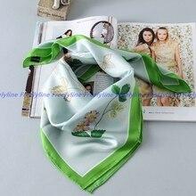Strawberry Print 100% Silk Twill Scarf Shawl Bandana Fashion Square Silk