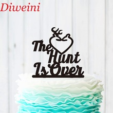 The Hunt Is Over Cake Topper, Personalized Wedding Toppers,Acrylic Rustic Deer Topper Party Supplies
