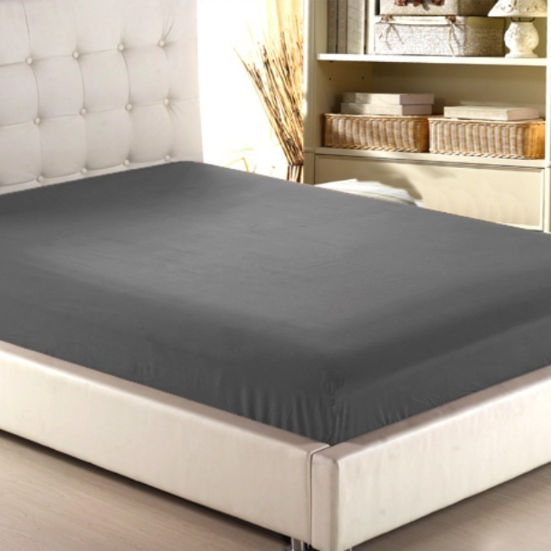 home textile solid color sheets fitted bed sheet elastic mattress cover bed linen deep pocket. Black Bedroom Furniture Sets. Home Design Ideas
