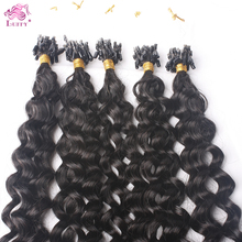 Neitsi Indian Virgin Remy Human Hair Straight Extensions Ombre Colored U Nail Tip Fusion Pieces