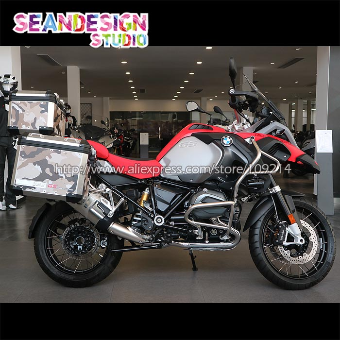 For BMW F800GS R1200GS ADV Vinyl Decal Camo motorcycle Stickers moto bike Decals Waterproof 22 for bmw r1200gs adv f800gs adv f700gs new motorcycle adjustable handlebar riser bar clamp extend adapter