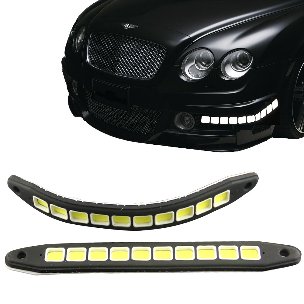 2pcs Square 21cm Bendable Led Daytime Running Light 100 Waterproof Cob Day Time Lights Led Car