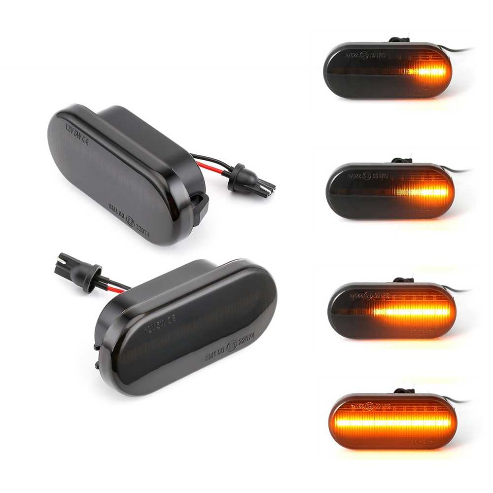 Smoke Lens LED Indicatore Laterale Ambra Luci Che Scorre Segnale di Girata Lampade per Volkswagen Bora Golf 3 4 Passat 3BG Polo SB6
