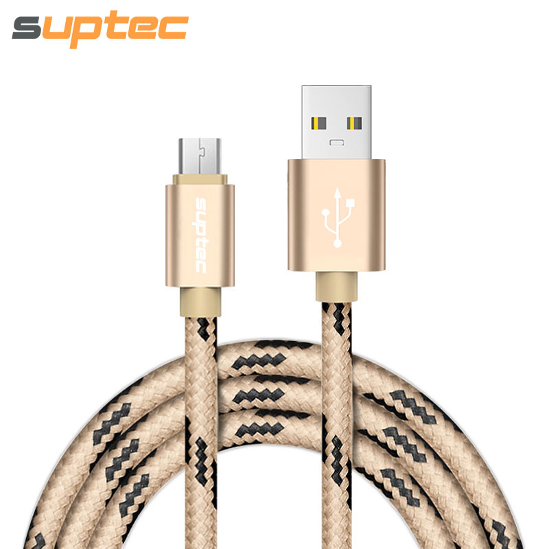 SUPTEC Micro USB Cable Nylon Braided Wire Fast Charging USB Charger Data Cable for Samsung Xiaomi Nokia LG Sony Huawei Android