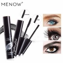 MENOW  3D black Waterproof Mascara Plus Grafting Fiber Companion Eyelash Set Three-dimensional spiral brush head K908