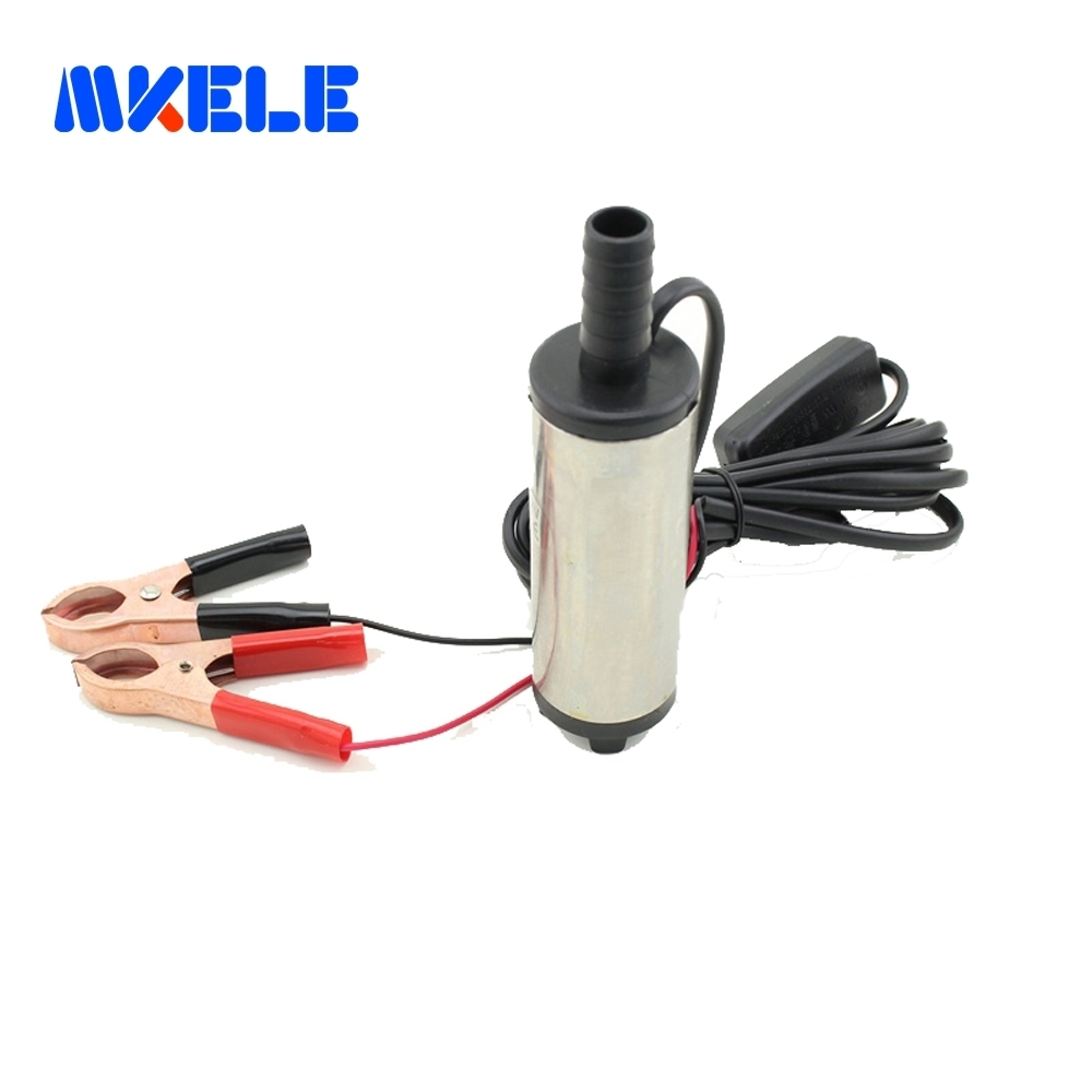 Free shipping Diameter 38MM DC 12V Submersible Diesel Fuel Water Oil <font><b>Pump</b></font> On/Off Switch Car Camping Portable