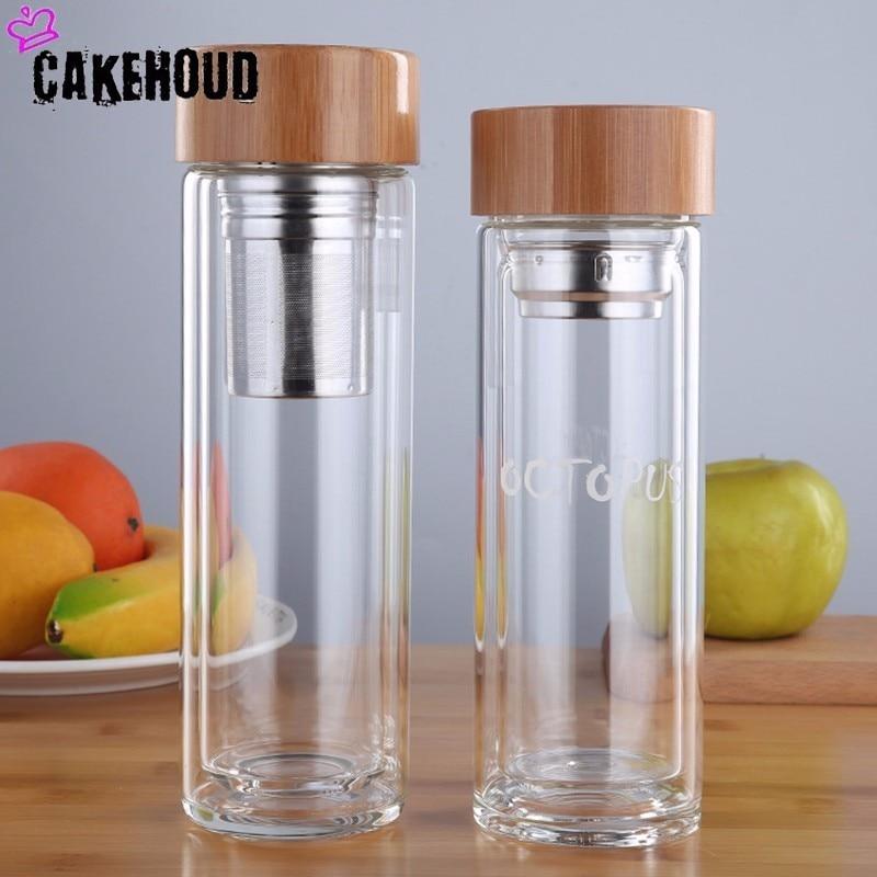 Cakehoud 350 Ml 450 Ml Glas Wasser Flasche Trinken Tee Mit Infuser