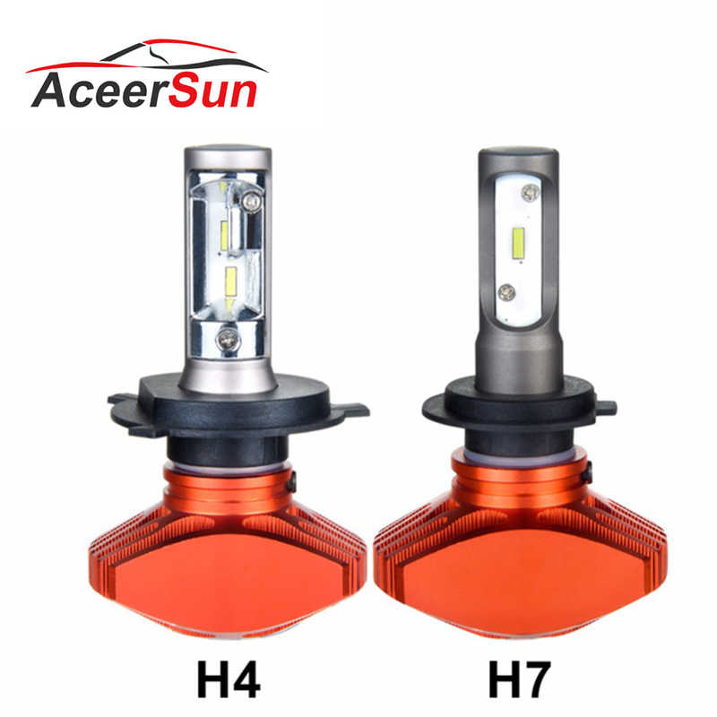 ACEERSUR LED H7 H4 H11 6500K LED Auto Car Headlight 9005 9006 H3 H8 H9 H1 LEDs H1 50W 8000LM Automobile Bulb Fanless 12V HB3 HB4