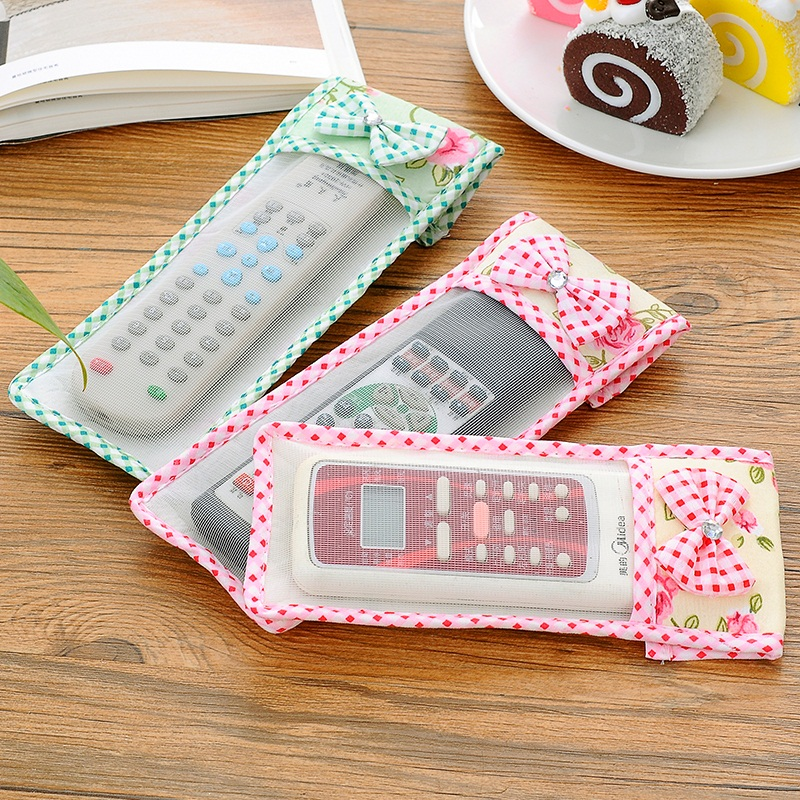 Remote Control Covers Rural style cloth remote control dust cover Air conditioning TV remote control dust cover remote