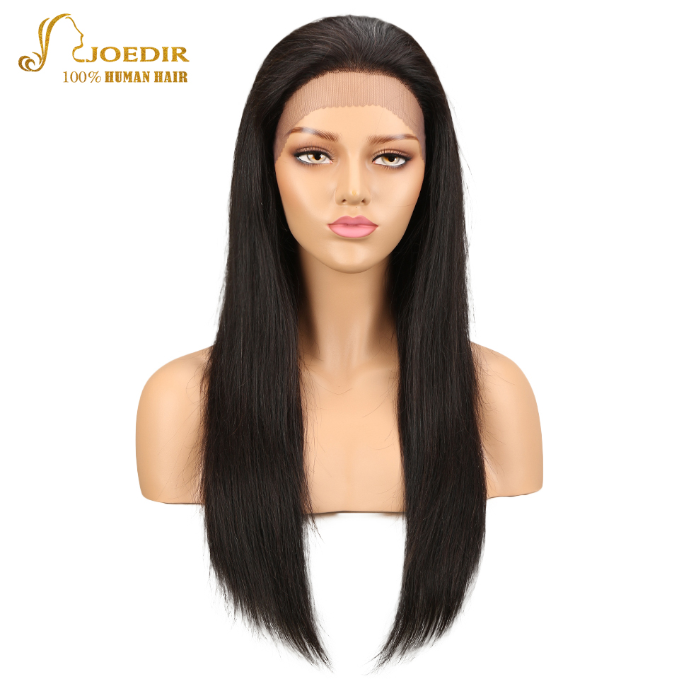 Joedir Hair Lace Front Human Hair Wigs Brazilian Straight Remy Human Hair Wigs For Black Women 26 inch Long Wig Free Shipping