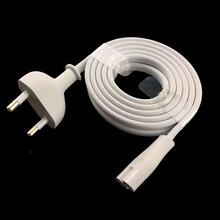 Белый ЕС питающий кабель 6ft 1,8 м Рисунок 8 C7 к Евро ЕС Европейский 2 контактный разъем для PS4 apple ТВ dvd-камера