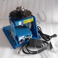 RU Stock 220V BY 10 Mini Welding Positioner Turntable 3 Jaw Lathe Chuck K01 63 M14 Pipe Welding Table semi automatic welding