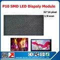 P10 крытый RGB полноцветный из светодиодов дисплей 320 * 160 мм 32 * 16 пикселей 1/8 сканирования из светодиодов видео программируемый прокрутка сообщение из светодиодов дисплей