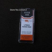 Litmus paper red 1000 test strips (5 knifes/box * 10 boxs) litmus red test paper Acid-base test paper physics tool