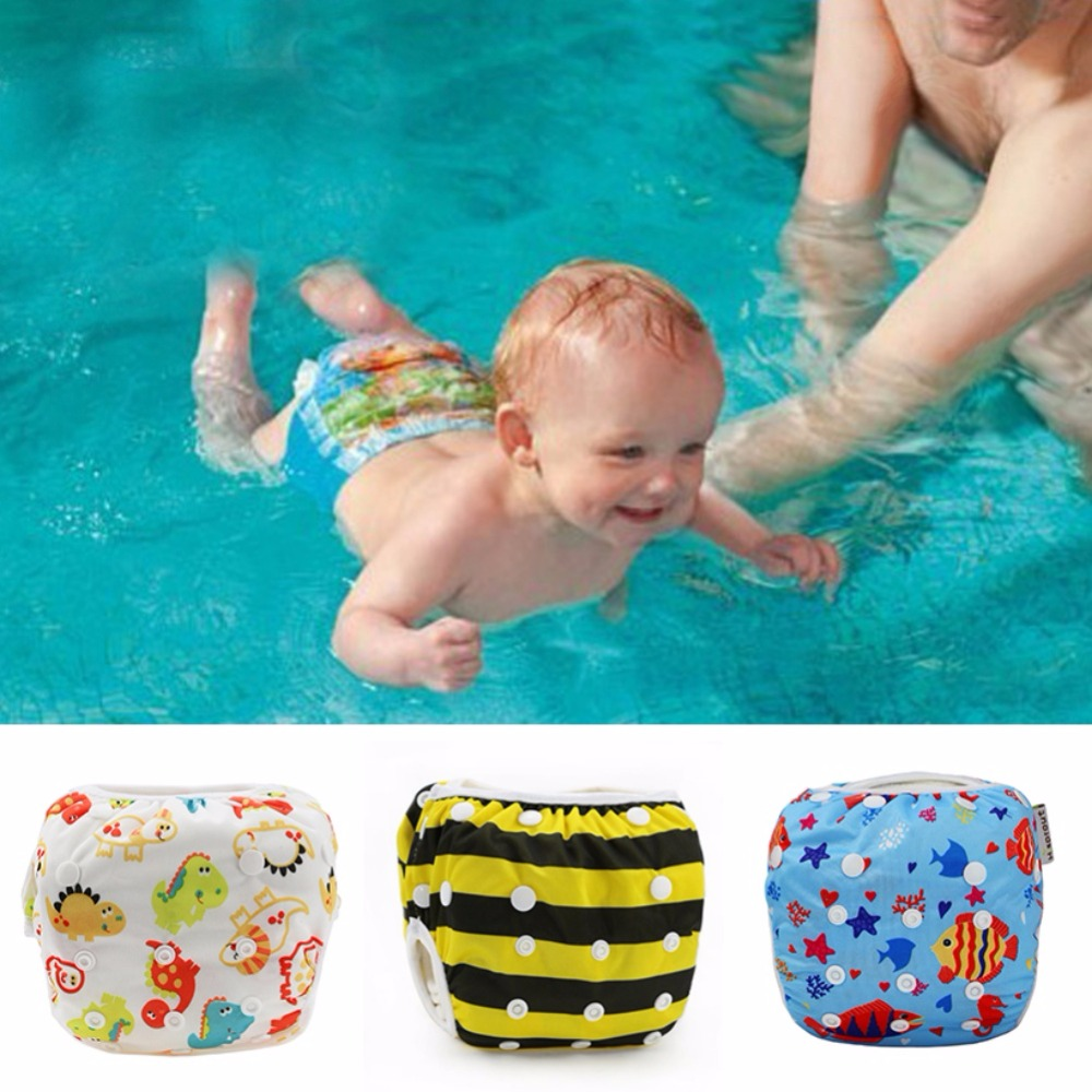 27 Colors Unisex 10-40 Lbs Adjustable Baby Pant Pool Diaper Waterproof Cover Washable Swim Reusable
