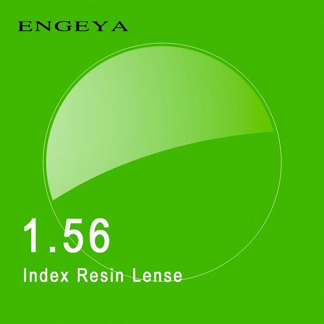 1.56 Index Prescription Lenses Resin Aspheric Glasses Lenses for Myopia Hyperopia Presbyopia Eyeglasses Lens with Green Coating