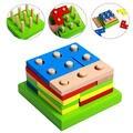 Colorido Placa De Classificação De Madeira Formas Geométricas Montado Blocos de Construção de Quebra-cabeças Brinquedo Intelectual