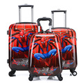 High Quality Boys Red Spiderman Carry On Luggage/Kids 18,19,20 Inch School Trolley Bag/ABS Travel Boarding Suitcase On Wheels