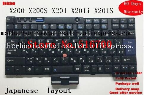 Soleado Teclado Original Para Lenovo Thinkpad X200 X200s X201 X201i X201s Teclado 42t3729 Versión De Diseño De Idioma Japonés Calidad Primero