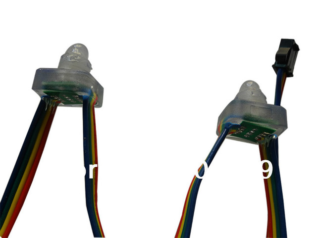 DC12V RGB dump node;100pcs a string;IP68;with epoxy resin filled