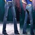 Tamaño más delgado elástico de empalmar-elevación boot cut denim hembra jeans acampanados pantalones femeninos q0922