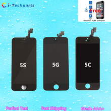 For iPhone 5C LCD Display and Touch Screen Digitizer Assembly Replacement for iPhone 5 5S SE, White Black