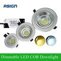 Mais novo regulável LED Downlight espiga 5 W 10 W 20 W luz do ponto recesso lâmpada do teto iluminação do banheiro cozinha COB Downlights AC85-265V