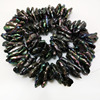16 Inches 20 30 Mm Black Centre Drilled Large Baroque Keshi Pearl Loose Strand