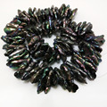 16 inches 20-30 mm Black Centre Drilled Large Baroque Keshi Pearl Loose Strand