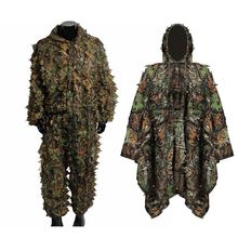 Tactical Military Ghillie suit Stealth camouflage hunting clothing Sniper tactical suits
