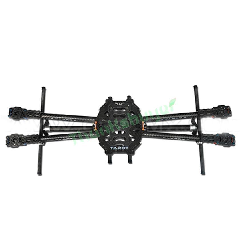 Tarot Iron Man 650 Fully Folding Carbon Fiber Aircraft FPV Quadcopter TL65B01 with Landing Gear f05548 iron man 650 carbon fiber 4 axle aircraft fully folding fpv quadcopter frame kit tl65b01 fs