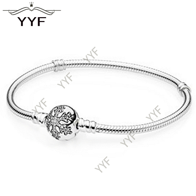 PY original 100% S925 Sterling Silver bracelet, suitable for charming bracelets and bracelets DIY jewelry