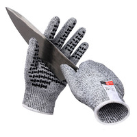 Professional Anti Cut Gloves CE Standard Level 5 Cut Resistant Non Slip Safety Gloves Multi Function