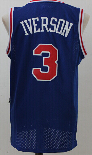 new concept 7ff12 814e6 Mens #3 Retro Allen Iverson Jersey Throwback Stitched ...