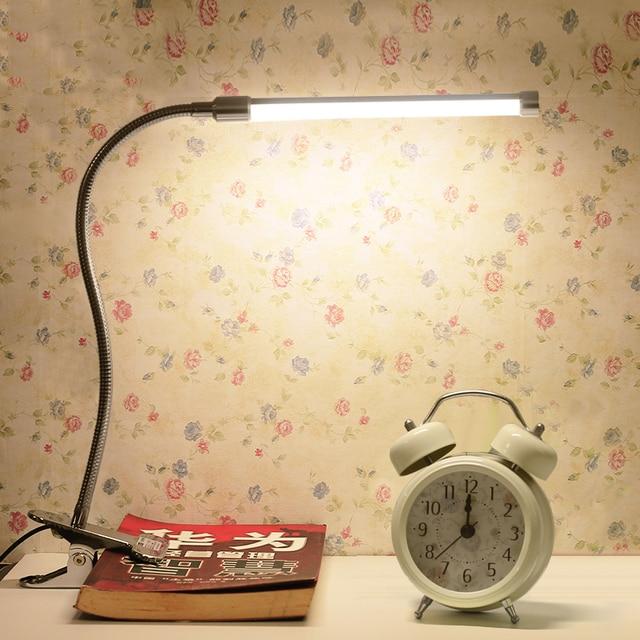 LED Desk Light tablelights  Clamp lamp clip Bedside Lamps For Reading Study